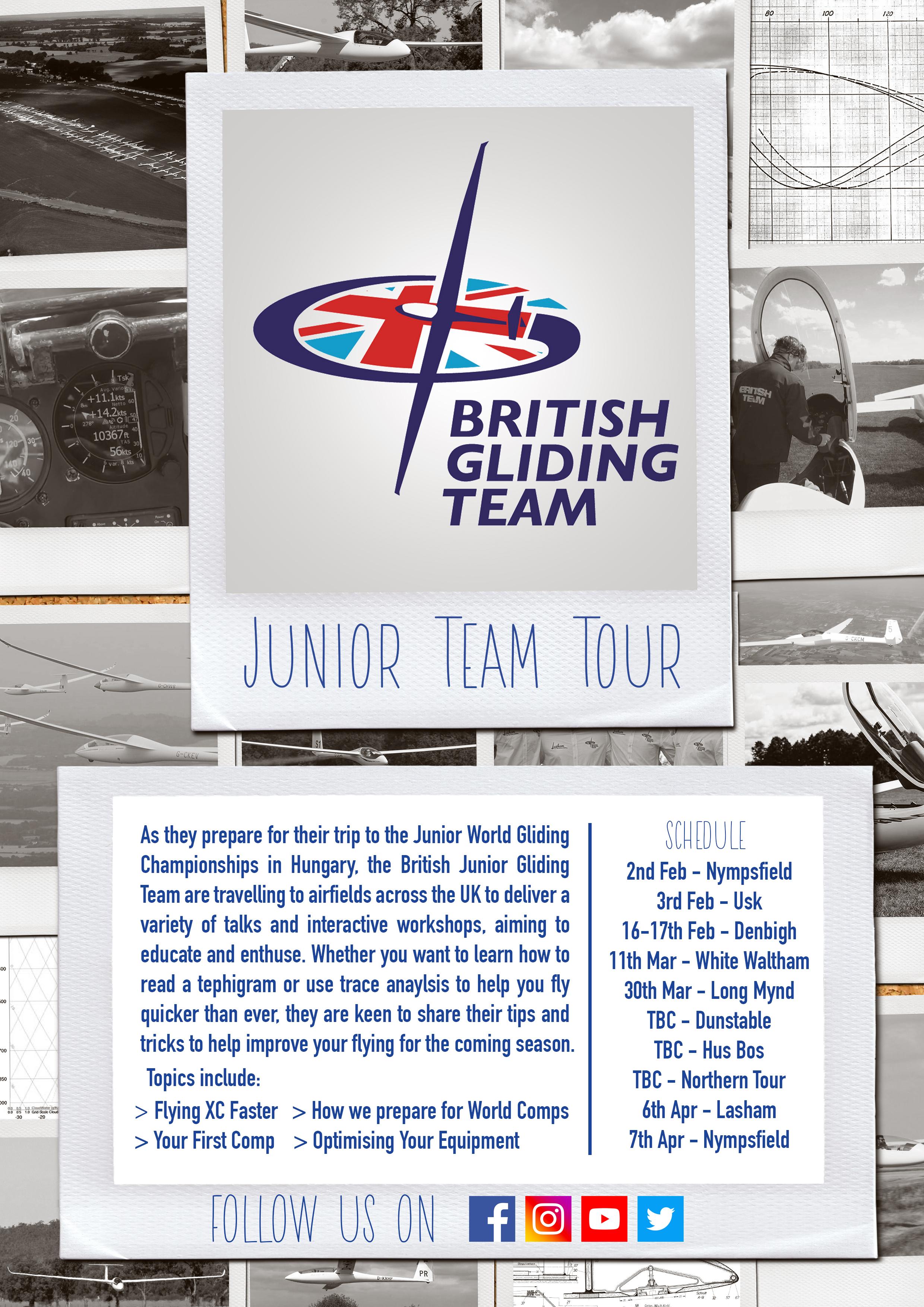 British Junior Gliding Team Talks and Workshops Tour - British