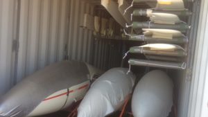 Gliders inside the container
